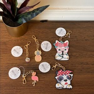 Keychain/ Bag Charms Lot of 5